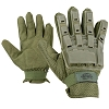 Valken Tactical Full Finger Plastic Back Gloves-OLIVE