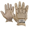 Valken Tactical Full Finger Plastic Back Gloves-TAN
