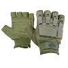 Valken Tactical Half Finger Plastic Back Gloves-OLIVE