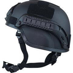 Valken Tactical Airsoft MICH 2000 Helmet w/mount&rails - Black