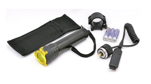 Valken Tactical LED Flashlight w/ Mount, Filter & Remote